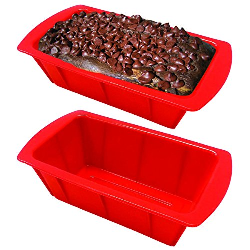 Ovenart Bakeware Silicone 12 Cup Muffin Pan Red Micromally