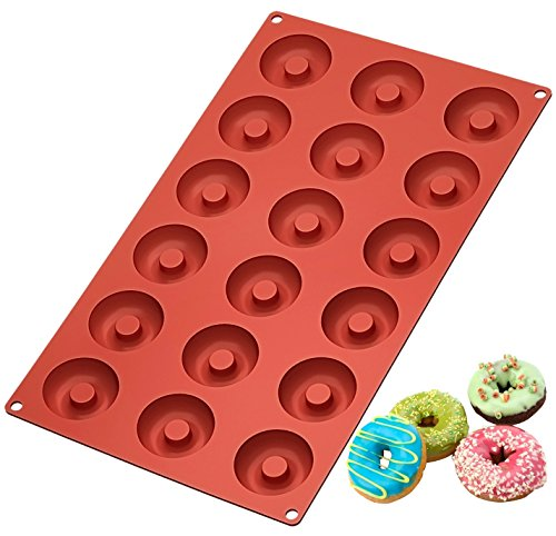 Klemoo 2 Pack Donut Baking Pan Silicone Non Stick Mold