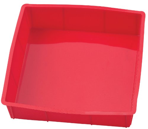 Silicone Bread And Loaf Pan Set Of 2 Red Nonstick