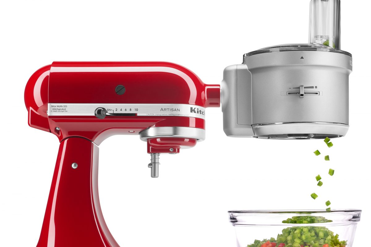 Kitchenaid ksm2fpa food processor attachment with commercial style dicing kit micromally - Julienne blade food processor ...