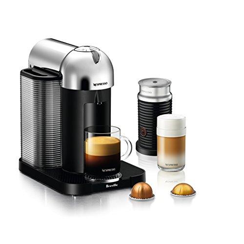 nespresso vertuo coffee and espresso machine by breville with aeroccino chrome micromally. Black Bedroom Furniture Sets. Home Design Ideas