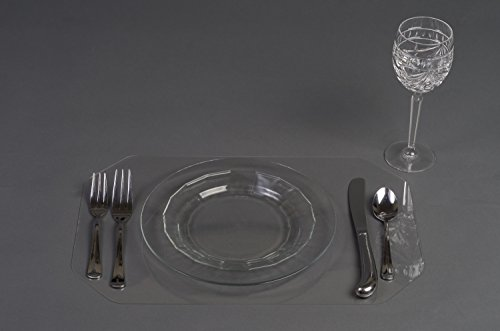Clear Placemat Set 4 Micromally