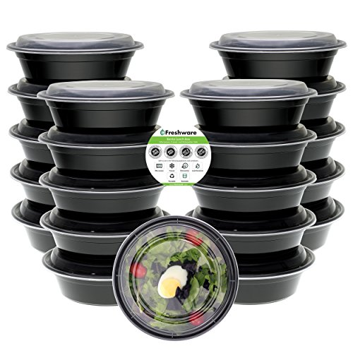 20 pack 32 oz meal prep containers bpa free plastic reusable food storage container microwave. Black Bedroom Furniture Sets. Home Design Ideas