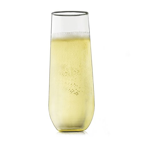 Set Of 12 Libbey Stemless Champagne Flute Glass Micromally