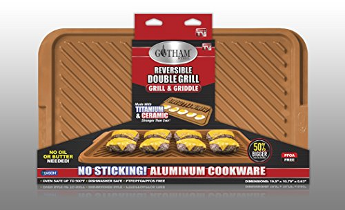 Gotham Steel 1619 Smokeless Electric Grill Large Brown