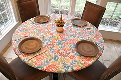 Mosaic Table Cloth Round 36 To 48 Elastic Edge Fitted