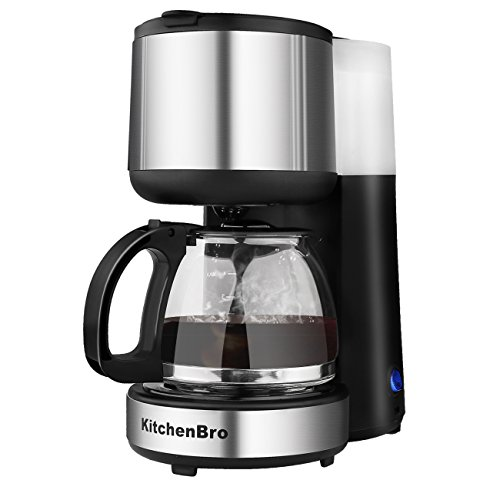 Coffee Maker 4-Cup KitchenBro Stainless Steel with Warming ...