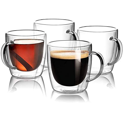 Moderna Espresso Cups With Handle, Made Of Borosilicate