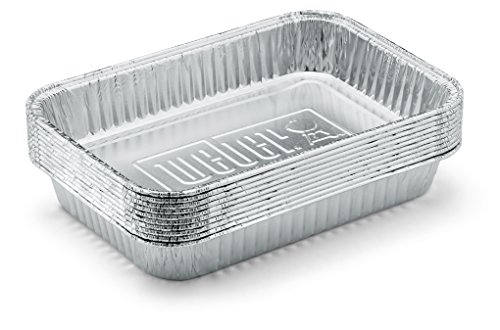 Weber 6415 Small 7 1 2 Inch By 5 Inch Aluminum Drip Pans