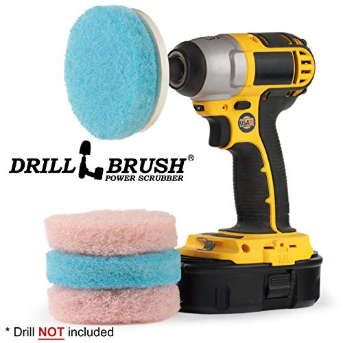 Scouring Pad Brush Electric Drill Clean Kitchen Floor Hard: Drillbrush Bathroom Surfaces Tub, Shower, Tile And Grout