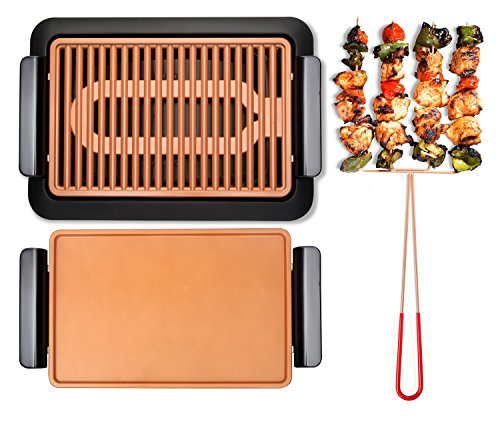 Gotham Steel Smokeless Electric Grill Griddle And