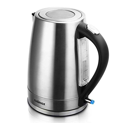 cusimax 1 7 l bpa free electric kettle stainless steel. Black Bedroom Furniture Sets. Home Design Ideas