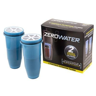 Zerowater On The Go 26oz Filtered Tumbler Silver Bpa Free