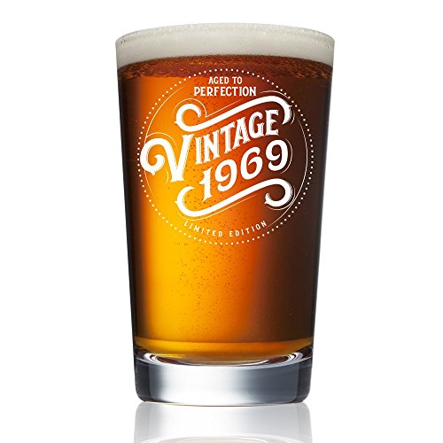 1969 50th Birthday Gifts For Men And Women Beer Glass