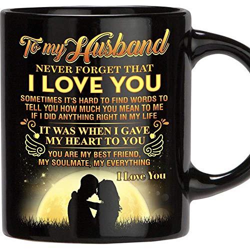 Wedding Day Gift To Husband: Valentines Day Gift Mug For Man, 11 Oz Funny Mug Gifts For