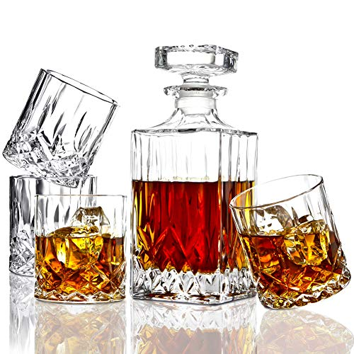 Crafted Crystal Whiskey Decanter