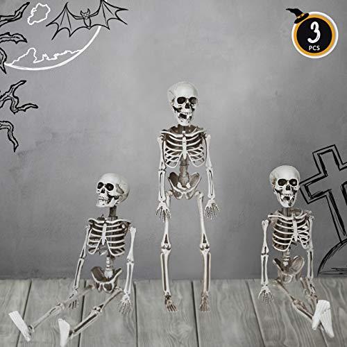 Greenbrier Halloween Spooky Skeleton 4 Piece Glass and Platter Bundle